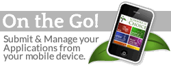 Submit and Manage your Applications from your mobile device.